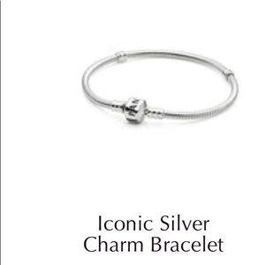Pandora Jewelry - Pandora iconic charm bracelet with two plain claps